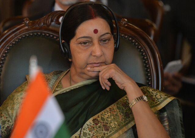 Sushma Swaraj, la canciller de la India (archivo)