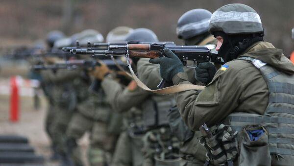 Militares de la Guardia Nacional de Ucrania (archivo) - Sputnik Mundo