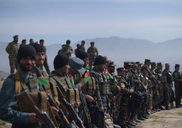 Soldados afganos en la provincia de Baghlan