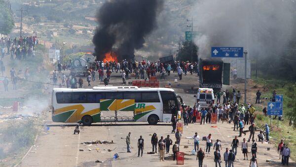 Protesta de maestros en Oaxaca - Sputnik Mundo