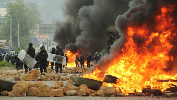 Las disturbios en Oaxaca (archivo) - Sputnik Mundo