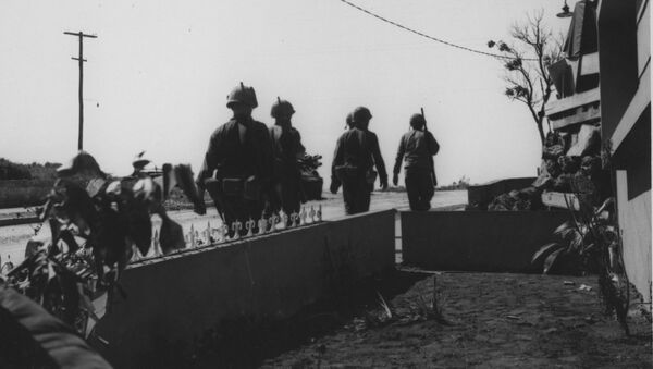 Marines estadounidense durante la Operación Power Pack - Sputnik Mundo