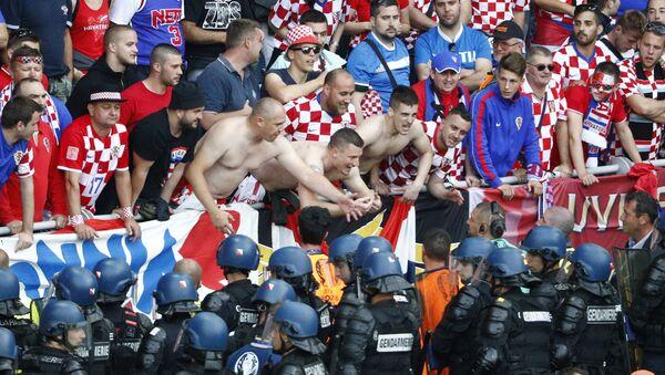 Hinchas croatas - Sputnik Mundo