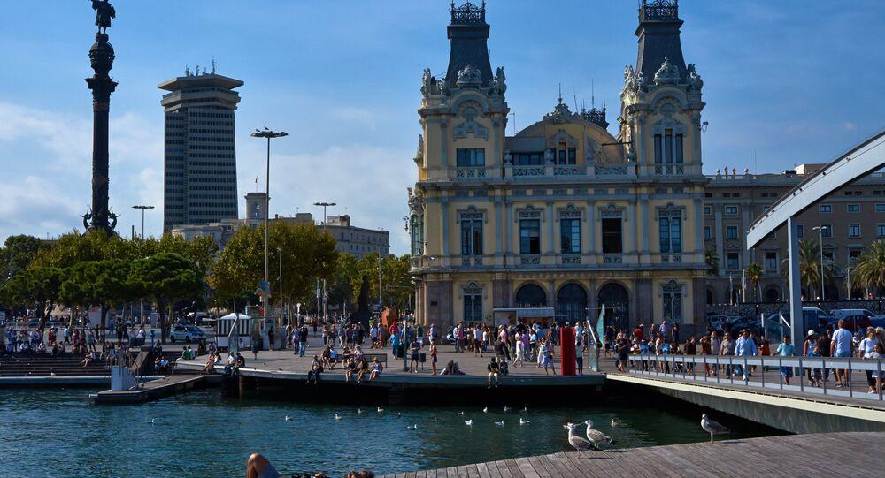 Turistas en Barcelona, España