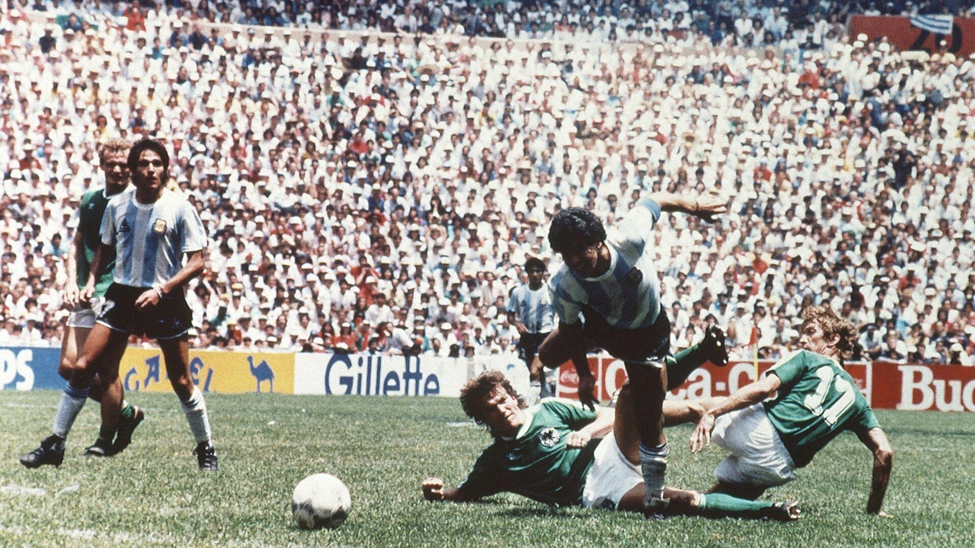 El partido de la final entre Argentina y Alemania del Oeste del Mundial de México 86 - Sputnik Mundo, 1920, 15.06.2021