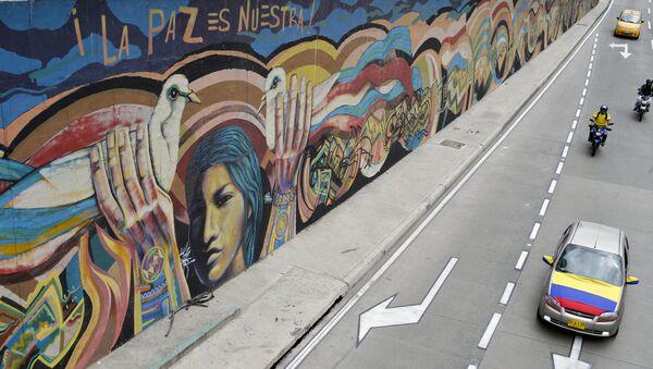 Grafiti La paz es nuestra - Sputnik Mundo