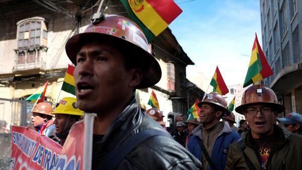 Protesta de los trabajadores en Bolivia (archivo) - Sputnik Mundo