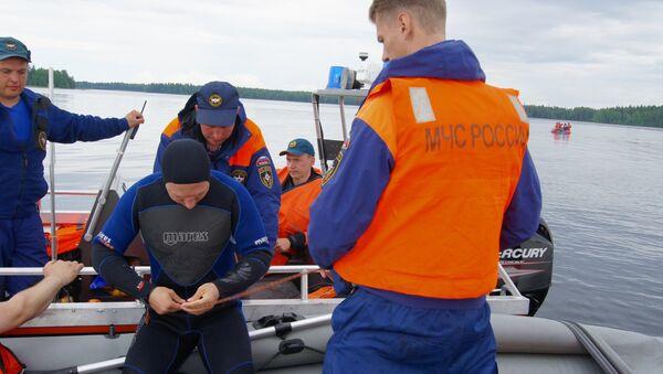 La búsqueda de los desaparecidso en el lago Siamózero en Carelia - Sputnik Mundo
