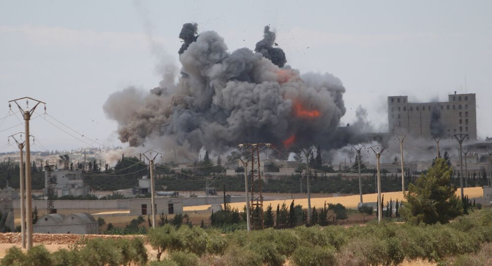 Las consecuencias de un ataque aéreo de EEUU (archivo)