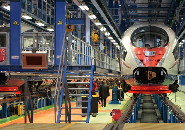Base rusa equipada por Siemens para los trabajos de reparación de los trenes Sapsan.