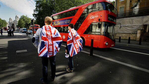 Los partidarios de la salida del Reino Unido de la UE en Londres - Sputnik Mundo
