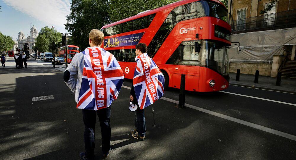 Los partidarios de la salida del Reino Unido de la UE en Londres