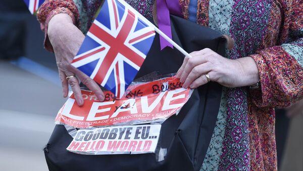 Un partidario del Brexit en Londres - Sputnik Mundo