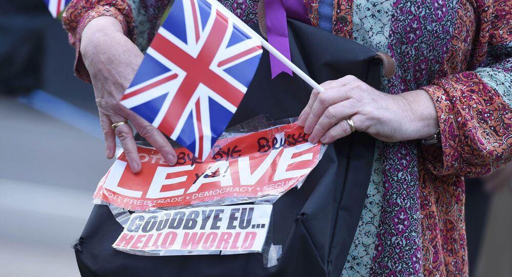 Un votante británico a favor de salir de la Unión Europea