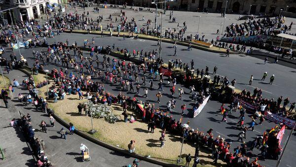 Protesta de trabajadores en Bolivia - Sputnik Mundo