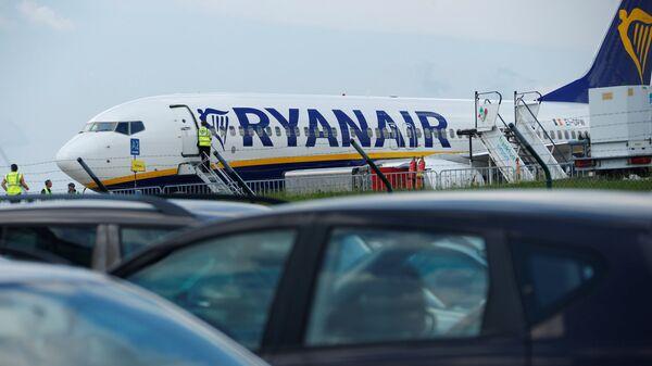 Avión de aerolínea Ryanair en el aeropuerto de Frankfurt - Sputnik Mundo