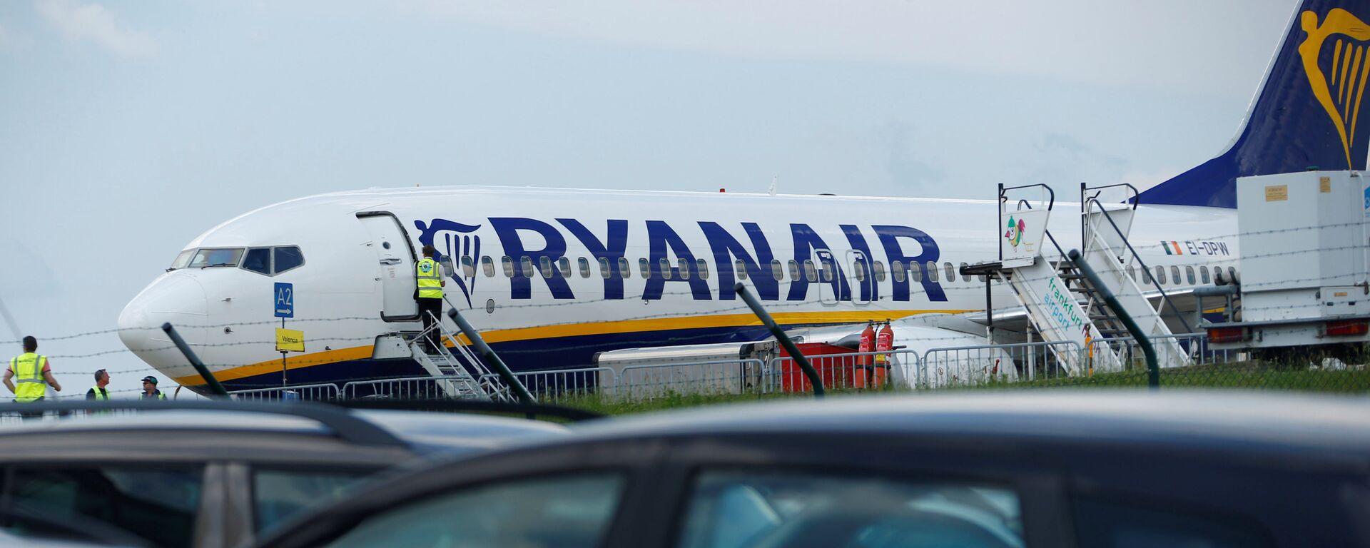 Avión de aerolínea Ryanair en el aeropuerto de Frankfurt - Sputnik Mundo, 1920, 25.05.2021