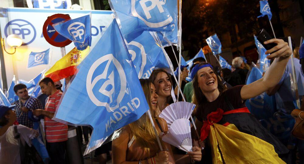 Las banderas del PP