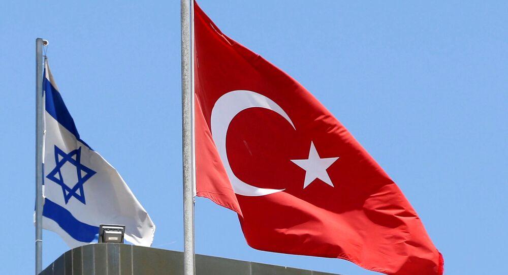 Las banderas nacionales de Israel y Turquía