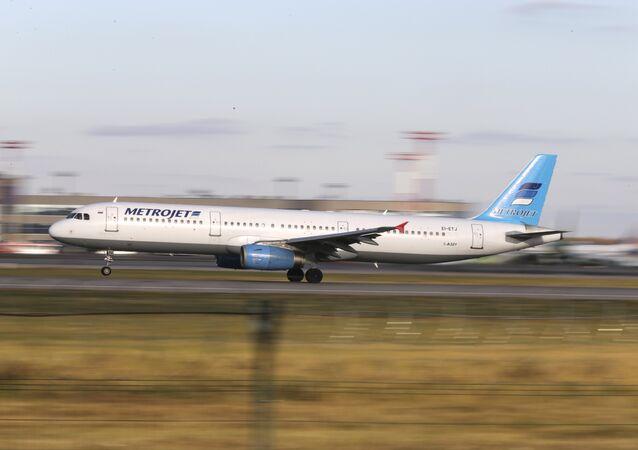 Avión aterriza en el aeropuerto de Domodédovo, Moscú