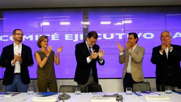 Mariano Rajoy, líder del Partido Popular, en una reunión del comité ejecutivo del partido en su sede en Madrid - Sputnik Mundo