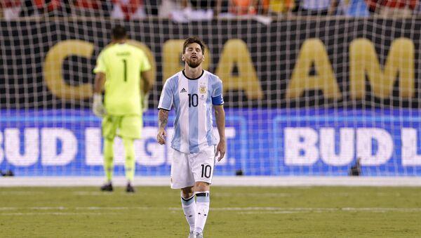 Lionel Messi, el delantero argentino, - Sputnik Mundo