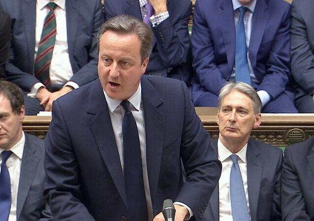 La intervención de David Cameron, primer ministro británico, ante el Parlamento británico