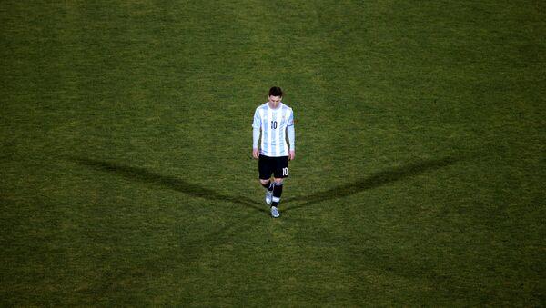 Lionel Messi después de la final de la Copa América - Sputnik Mundo