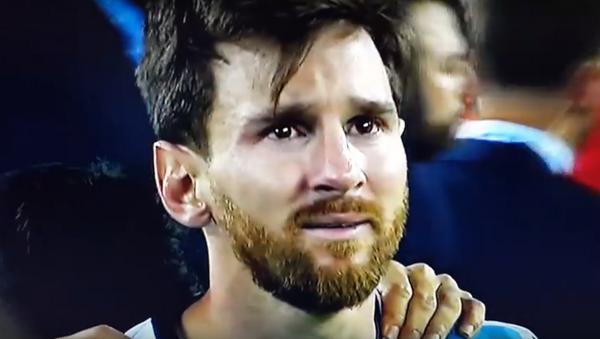Lionel Messi en la final de la Copa América - Sputnik Mundo