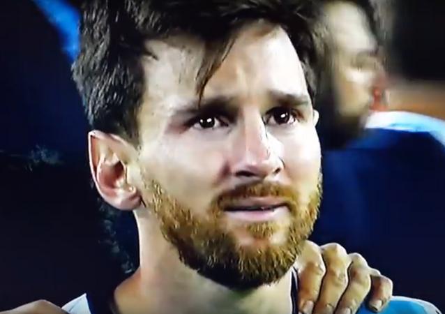 Lionel Messi en la final de la Copa América