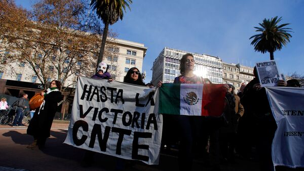 Protesta en Oaxaca, México - Sputnik Mundo