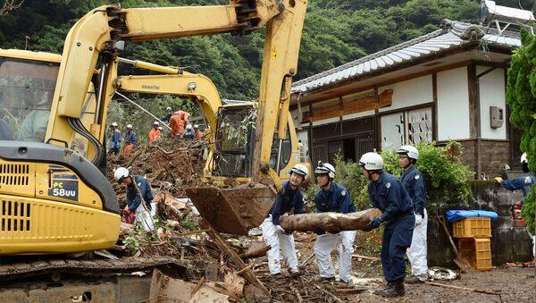 Las consecuencias de las lluvias en la prefectura nipona de Kumamoto - Sputnik Mundo
