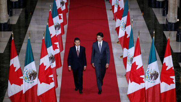 Presidente de México, Enrique Peña, y primer ministro de Canadá, Jistin Trudeau - Sputnik Mundo