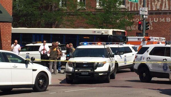 Lugar del tiroteo en Denver - Sputnik Mundo