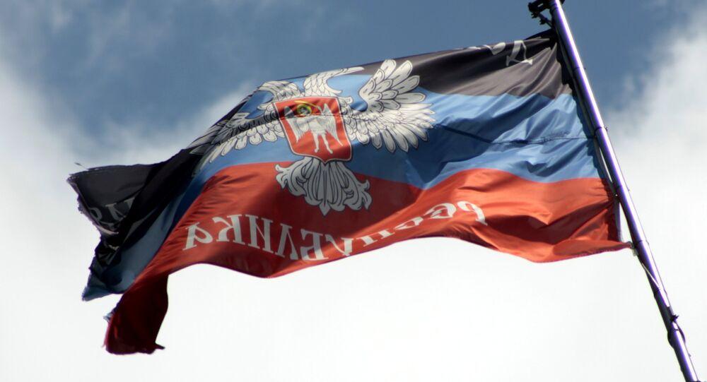 Bandera de la autoproclamada República Popular de Donetsk