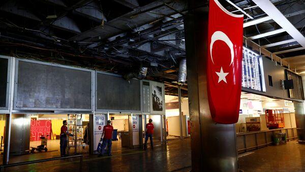 Aeropuerto Ataturk tras el atentado - Sputnik Mundo