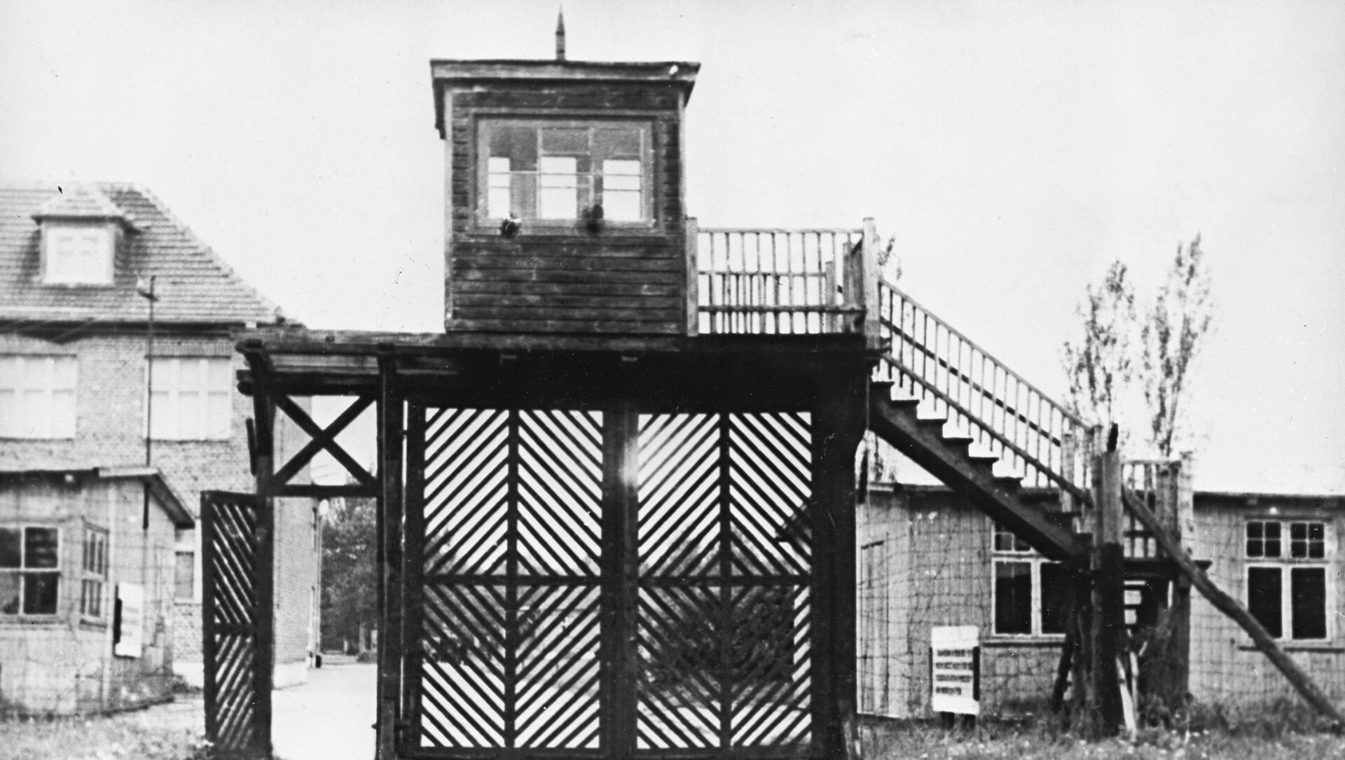 Вход на территорию бывшего лагеря Штуттгоф - Sputnik Mundo, 1920, 05.02.2021