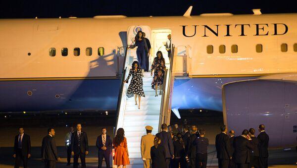 Familia Obama llega a Marruecos - Sputnik Mundo
