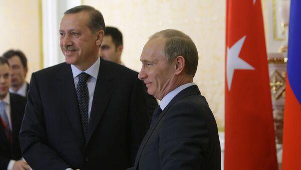 Presidente de Rusia, Vladímir Putin y presidente de Turquía, Recep Tayyip  (archivo) - Sputnik Mundo