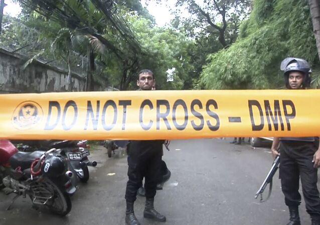 Lugar del atentado en Bangladés (archivo)