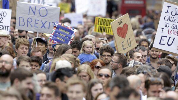 Marcha por Europa, Londres, 2 de julio de 21016 - Sputnik Mundo