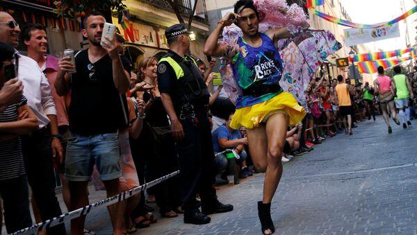 La manifestación del Orgullo Gay en Madrid - Sputnik Mundo
