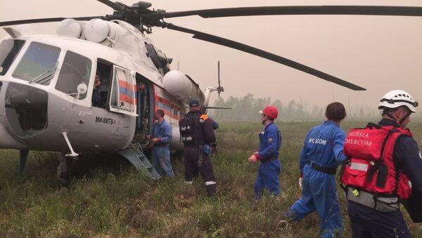 Equipos de socorro en el lugar del accidente de Il-76 - Sputnik Mundo