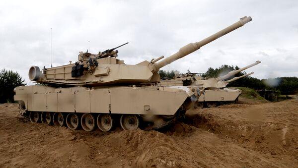 Tanques estadounidenses M1 Abrams - Sputnik Mundo