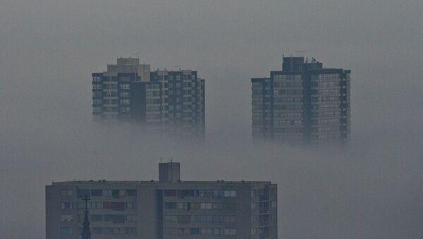 Contaminación en Santiago de Chile - Sputnik Mundo
