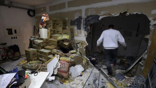 Las consecuencias del vandalismo en la sede del diario Tiempo Argentino - Sputnik Mundo