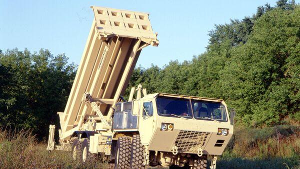 The US Army's Terminal High Altitude Area Defense (THAAD) interceptor, coming soon to South Korea. - Sputnik Mundo