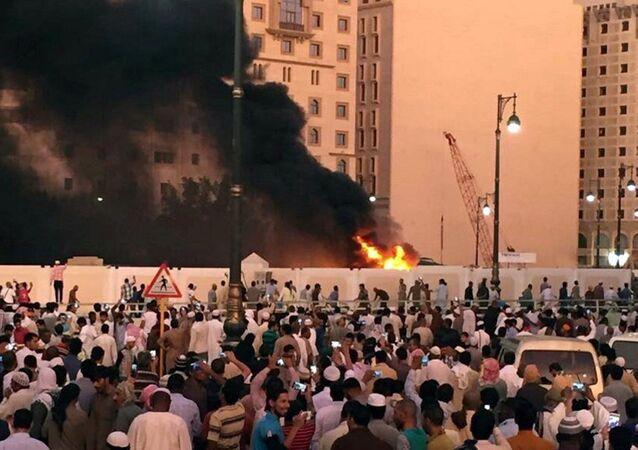 Atentado suicida en Medina (archivo)