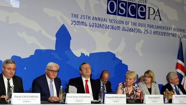 La sesión de la Asamblea Parlamentaria de la OSCE en Tiflis, Georgia - Sputnik Mundo