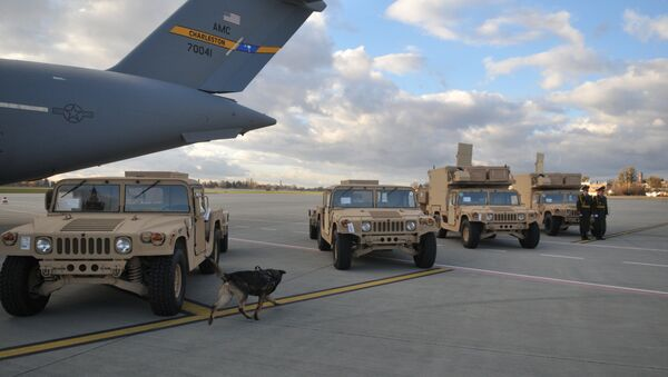 La ceremonia de la entrega de los radares estadounidenses a Ucrania - Sputnik Mundo